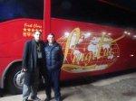 De volta à Criciúma, no restaurante 86, eu e o motorista Vladimir